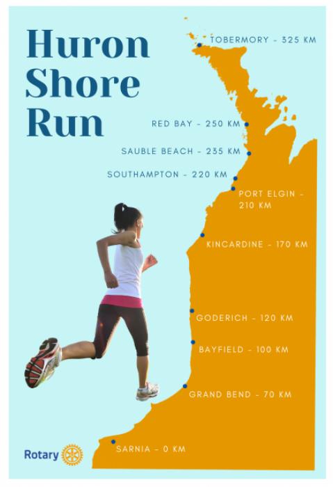 2021 Huron Shore Run Poster